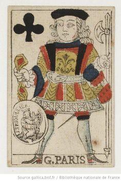 [Jeu de cartes au portrait de Paris] : [estampe] Éditeur : Jean-François Trioullier (Paris) Date d'édition : 1759-1765 Type : image fixe Format : 1 jeu de 36 cartes ; 8,5 x 5,5 cmgravure sur bois coloriée au pochoir Format : image/jpeg Droits : domaine public Identifiant : ark:/12148/btv1b84387105