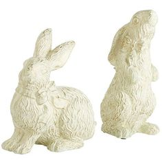 Most rabbits are a bit skittish. But these adorable cottontails are eager to make new friends. Place them in a nook or amid other decorations for a touch of Easter whimsy.