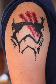 First Order Stormtrooper/Finn Helmet, by Eric Carpenter at New Vision Tattoo in Gainesville, GA - Imgur