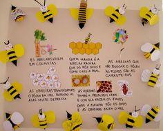 Abelhas Kids Crafts, Bee Crafts, Craft Activities For Kids, Bee Movie, Eric Carle, Science Fair, Kindergarten, Learning, Creative