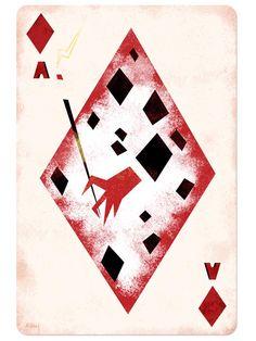 Disney Playing Cards Ace of Diamonds-Inspired by Cruella de Vil/101 Dalmatians