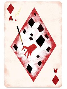 Disney Playing Cards Ace of Diamonds-Inspired by Cruella de Vil/101 Dalmatians