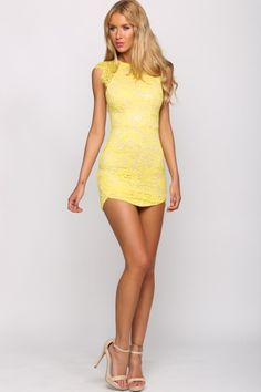 Just Desserts Dress Lemon
