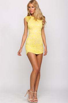 Just Desserts Dress Lemon