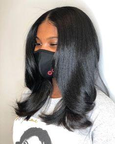 Black Girls Hairstyles, Pretty Hairstyles, Wig Hairstyles, Straight Hairstyles, Love Hair, Big Hair, Gorgeous Hair, Pressed Natural Hair, Natural Hair Silk Press