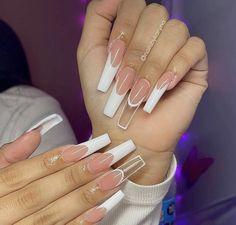 Acrylic Nails Coffin Pink, Acrylic Nail Tips, Simple Acrylic Nails, Drip Nails, Glow Nails, Garra, Dope Nail Designs, Acylic Nails, Glamour Nails