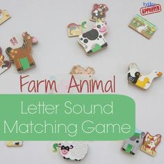 Toddler Approved!: Farm Animal Letter Sound Matching Game