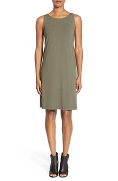 Eileen Fisher Jewel Neck Shift Dress available at #Nordstrom