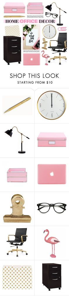 """""""HOME OFFICE DECOR"""" by lgb321 ❤ liked on Polyvore featuring interior, interiors, interior design, home, home decor, interior decorating, House Doctor, Catalina, Kate Spade and Bush Business Furniture"""