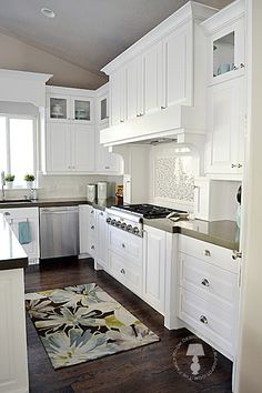 The Family Room: My New Home: Kitchen--- want a hood like this
