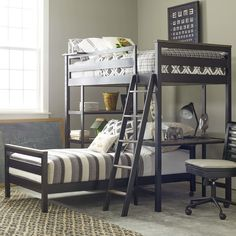 Found it at Wayfair - #myRoom Twin L-Shaped Bunk Bed