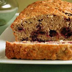 Best Banana Breads | Banana Blueberry Bread | CookingLight.com    Sub oats for grits!
