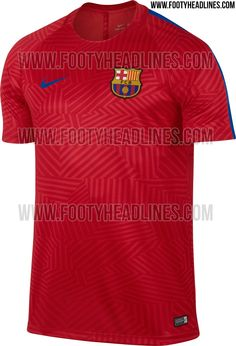 ca5df1d25 The new Nike FC Barcelona pre-match shirt features a bold design
