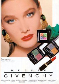 "1980s Givenchy ""Adorabella"" ad featuring Carla Bruni"