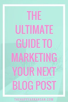 The Ultimate Guide To Marketing Your Next Blog Post | Does marketing your content scare you? Do you want to know how to best utilize places like Facebook, Twitter, Pinterest, StumbleUpon, and Instagram to market your next blog post? Click through for dozens of amazing tips on how to market your next blog post!