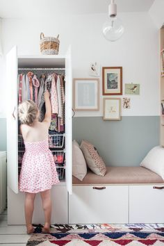 Cute little wardrobe for girls room!