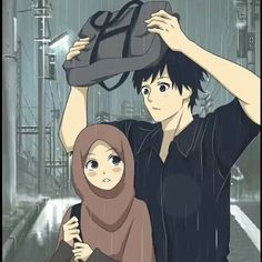 kumpulan kartun romantis parf 2 - my ely Love Cartoon Couple, Cute Couple Art, Anime Love Couple, Hijab Drawing, Cute Muslim Couples, Islamic Cartoon, Hijab Cartoon, Love In Islam, Love Illustration