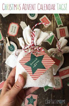 CraftWithMom: ΕΤΙΚΕΤΕΣ ΓΙΑ ΤΟ ΧΡΙΣΤΟΥΓΕΝΝΙΑΤΙΚΟ ΗΜΕΡΟΛΟΓΙΟ! | CHRISTMAS ADVENT CALENDAR TAGS!