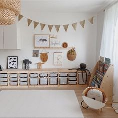 Ooh Noo Spielzeug Schubkarre - kids room Pin by Tina Schaadt on Kinderzimmer in 2020 Playroom Design, Playroom Decor, Kids Room Design, Baby Room Decor, Playroom Ideas, Ikea Kids Playroom, Toddler Playroom, Room Baby, Baby And Toddler Shared Room