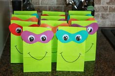 Teenage mutant ninja turtle party favors