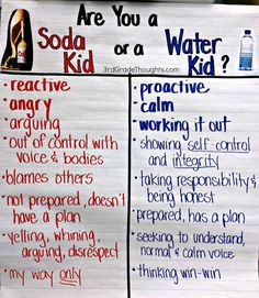 Are you a Soda Kid or a Water Kid? {Noticing our Reactions}