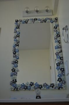 DIY Flat Glass Stones Decorated Mirror | Pinterest | Decorating ...