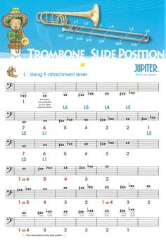b7fc21c193d4fdf5b87eecc78fbf6afb trombone music lessons trombone slide position chart music & things pinterest