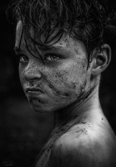 """lifeunderthewaves: """" Lord of the Flies by JessicaDrossin A monochromatic version, cropped in of a shot I put up last week. If you're looking for tools for your photos please visit my store here and. Emotional Photography, Face Photography, Art Reference Poses, Photo Reference, Drawing Reference, Black And White Portraits, Black And White Photography, Monochrome Photography, Expressions Photography"""