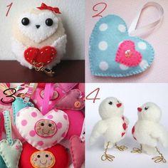 DeannaMaree Hearts: Valentine's Felt Decorations