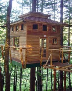 #RoadTrip | Vertical Horizons Treehouse Paradise, Cave Junction, OR. Explore your adventurous spirit when you sleep with the birds in a one-of-a-kind tree house.