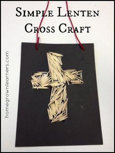 Simple Lenten Cross Craft