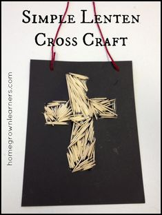 Simple Lenten Cross Craft