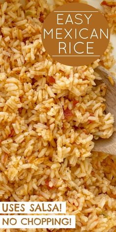 Mexican Rice Recipes, Easy Rice Recipes, Mexican Cooking, Mexican Dishes, Side Dish Recipes, Healthy Dinner Recipes, Cooking Recipes, Mexican Desserts, Freezer Recipes