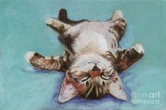 Teal Bedding, Back Painting, Thing 1, Sleepy Cat, Cat Design, Cat Art, Pet Portraits, Art Reproductions, Canvas Wall Art