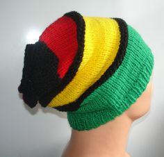 Hat Slouchy Beanie Rasta Beanie Chunky Knit Accessories by Ifonka