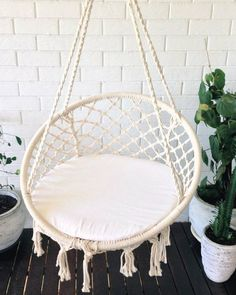 crochet hanging chair bohemian boho chic rustic by azulbereber