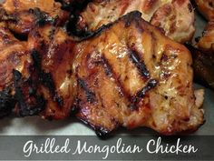 This Grilled Chicken is given a flavor boost with San-J Mongolian Stir-Fry & Marinade Sauce.