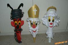 Mikuláš Čert Anděl kornouty na nadílku Saint Nicolas, Minions, Advent, Devil, Sewing Crafts, Crafts For Kids, Christmas Decorations, Paper Crafts, Knitting