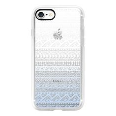 Aztec Pattern, Blue & White Ombre - iPhone 7 Case, iPhone 7 Plus Case,... (1,855 DOP) ❤ liked on Polyvore featuring accessories, tech accessories, iphone case, aztec print iphone case, iphone cases, apple iphone case, aztec iphone case and iphone cover case