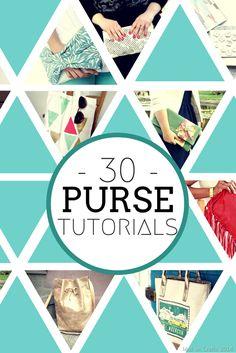 30 DIY Purse Tutorials - Handbags, Totes and Clutches for Summer!