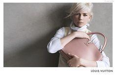 Michelle Williams para a campanha de inverno 2014 da Louis Vuitton