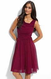 Chiffon and Satin Dress Cute and fun dress with satin bodice and pleated chiffon skirt. Length is about Great for wearing to a wedding, party, or anywhere else you need a short flowing dress. Suzi Chin for Maggy Boutique Dresses Burgundy Bridesmaid Dresses, Burgundy Dress, Burgundy Wedding, Bridesmaids, Flowing Dresses, Nice Dresses, Chiffon Skirt, Satin Dresses, Nordstrom Dresses