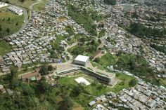 Image 15 of 33 from gallery of Antonio Derka School / Obranegra Arquitectos. Photograph by Luis Adriano Ramírez Luis Adriano, Quito, Skyscraper, City Photo, The Neighbourhood, Dolores Park, Mansions, Landscape, Architecture