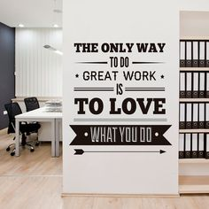 Ordinaire Great Work Is To Love   Office Decor   Typography Stickers   Inspirational  Stickers   Motivational Quotes   SKU:officesticker