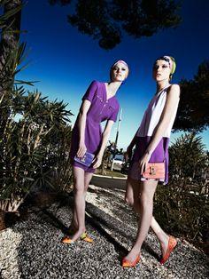 Nikola Romanova & Sansa by Steve Hiett in Vogue Italia February 2014