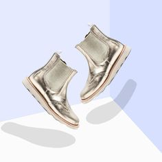 Alex and Alexa | Insiders Picks: Young Soles Gold Leather Boots Leather Chelsea Boots, Leather Boots, Childrens Shoes, Gold Leather, Sole, Leather Booties