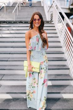 Swans Style is the top online fashion store for women. Shop sexy club dresses, jeans, shoes, bodysuits, skirts and more. Chic Outfits, Spring Outfits, Dress Outfits, Fashion Dresses, Jumpsuit Outfit, Floral Jumpsuit, Jumpsuit Style, Lauren Kay Sims, Occasion Wear