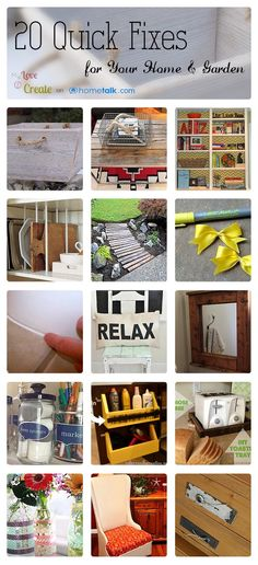20 Quick Fixes for Your Home & Garden | curated by 'MyLove2Create' blog!
