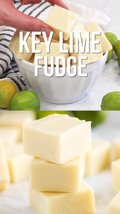 fudge recipes without condensed milk 3 ingredients - fudge recipes without condensed milk . fudge recipes without condensed milk 3 ingredients . fudge recipes easy without condensed milk . chocolate fudge recipes without condensed milk Key Lime Desserts, Köstliche Desserts, Delicious Desserts, Yummy Food, Mini Dessert Recipes, Cake Recipes, Key Lime Fudge, Key Lime Bars, Homemade Fudge