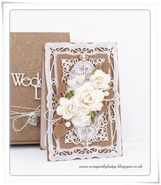 Scrap Art by Lady E, Flower, filigree greeting card